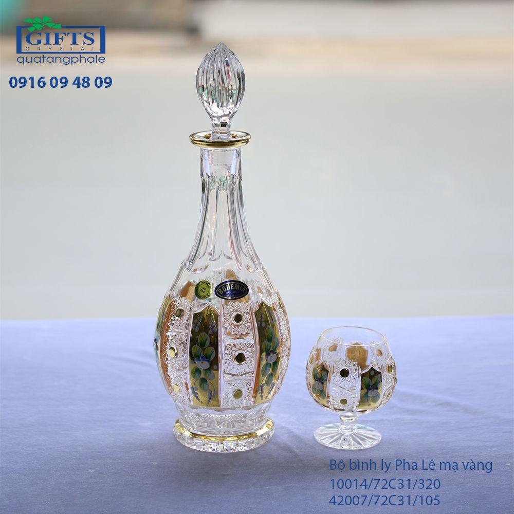 Bộ Bình Ly Pha Lê Mạ Vàng 10014-42007-72C31-320-105