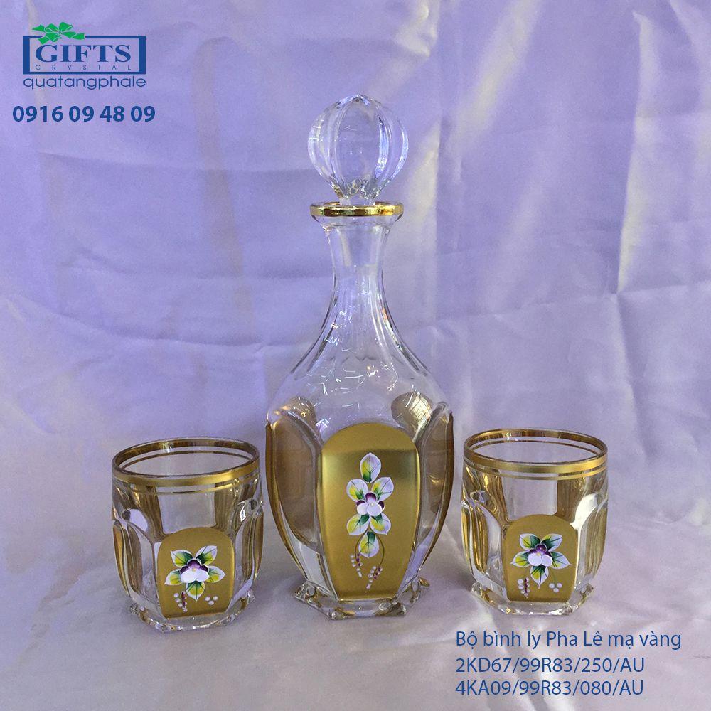 Bộ Bình Ly Pha Lê Mạ Vàng 99999/99R83/981/AUM