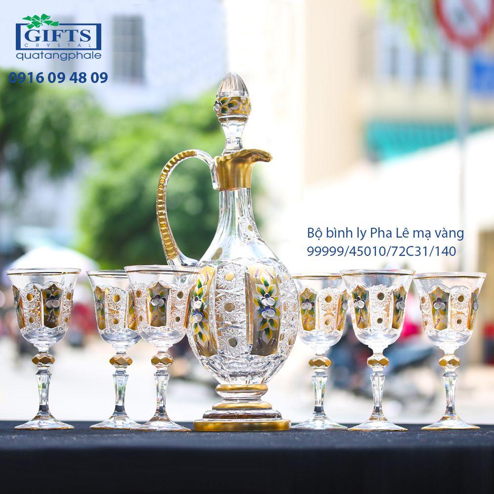 Bộ Bình Ly Pha Lê Mạ Vàng 99999_45010_72C31_140