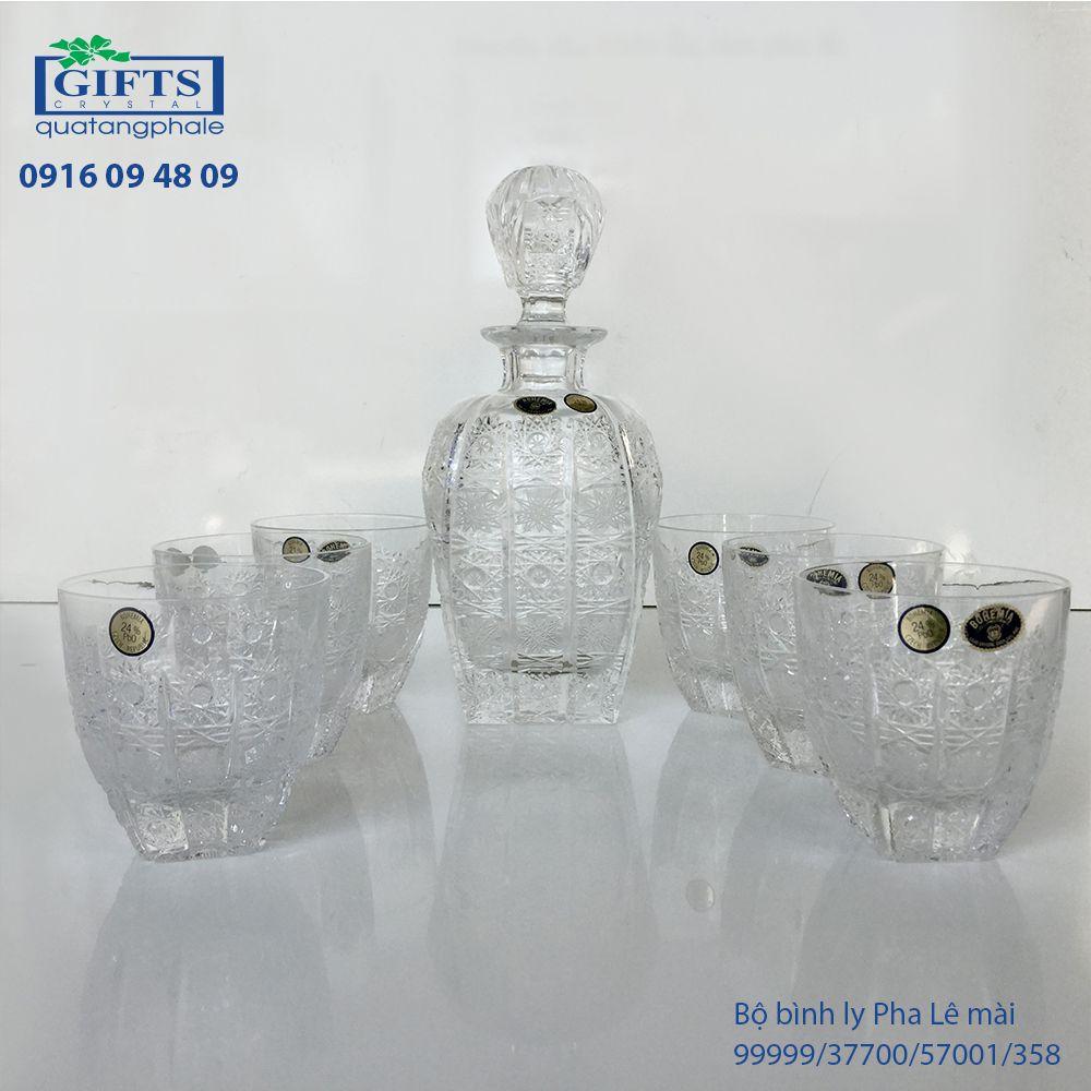 Bộ bình ly pha lê mài 99999-37700-57001-358