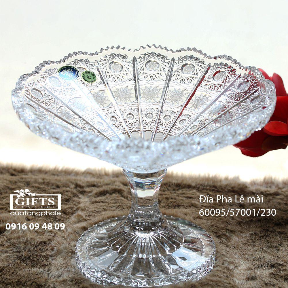 Đĩa quả pha lê Bohemia cao cấp 60095-57001-230