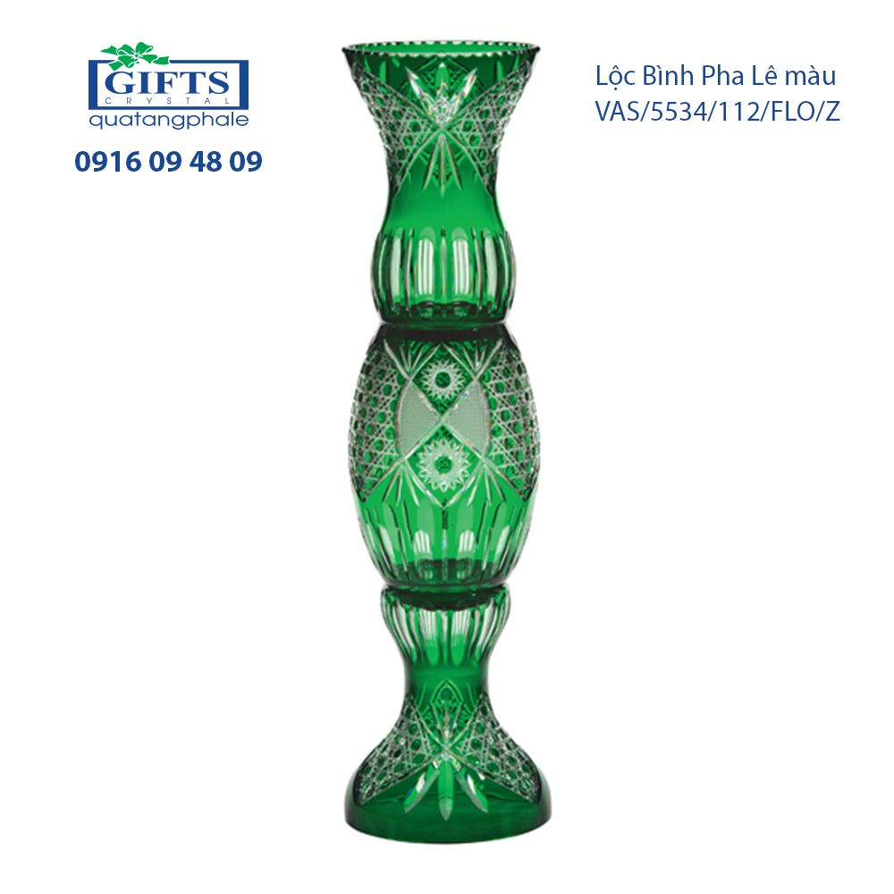 Lộc Bình Pha Lê vas-florence-5534-112 Xanh Lục Bảo