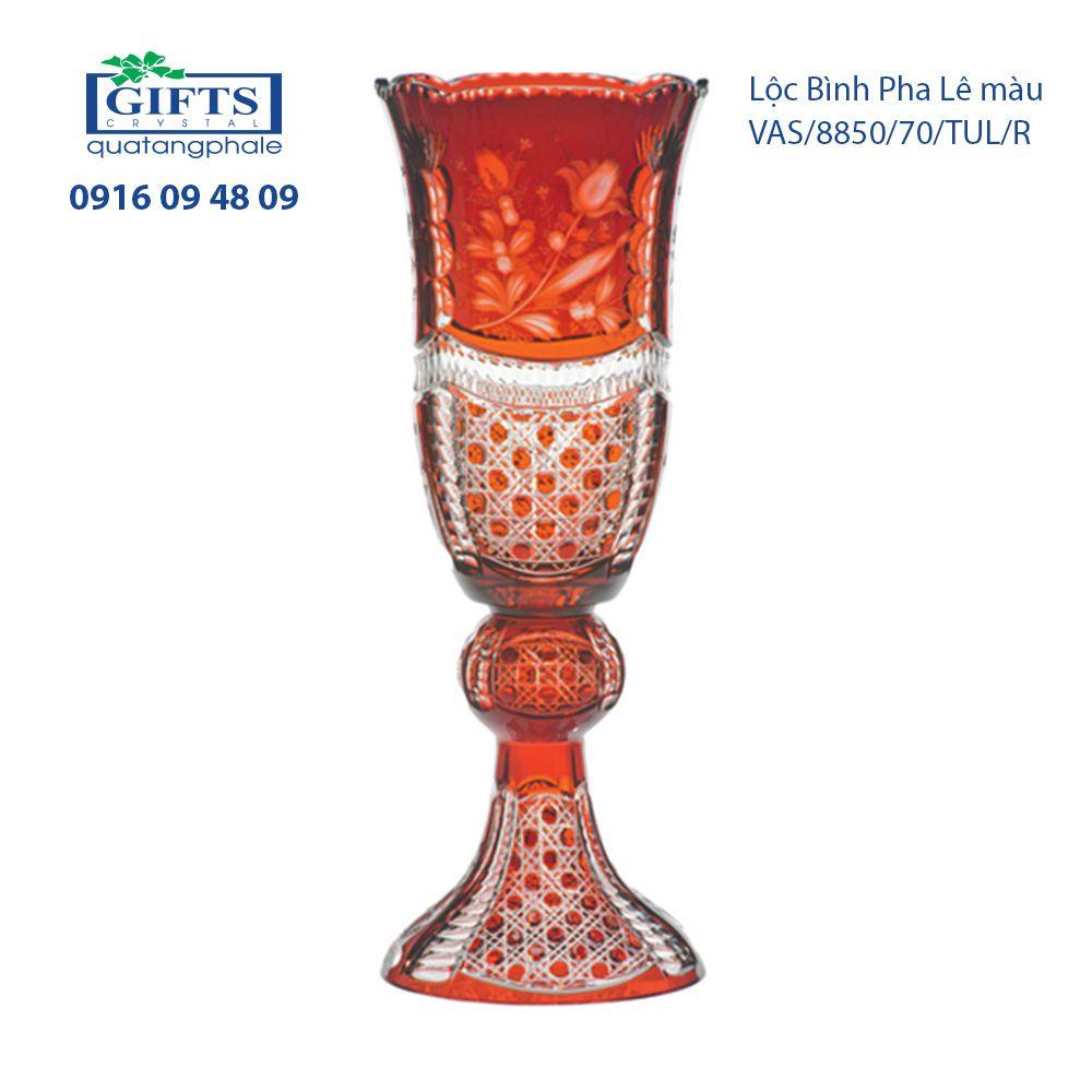 Lộc Bình Pha Lê vas-tulipa-8850-70 Sắc Đỏ Rực Rỡ
