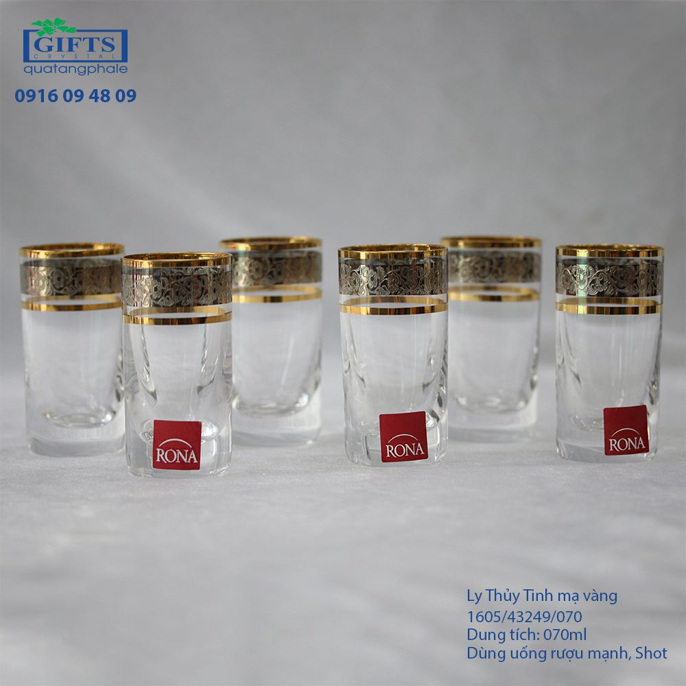 Ly Thuỷ Tinh Mạ Vàng 1605-43249-070