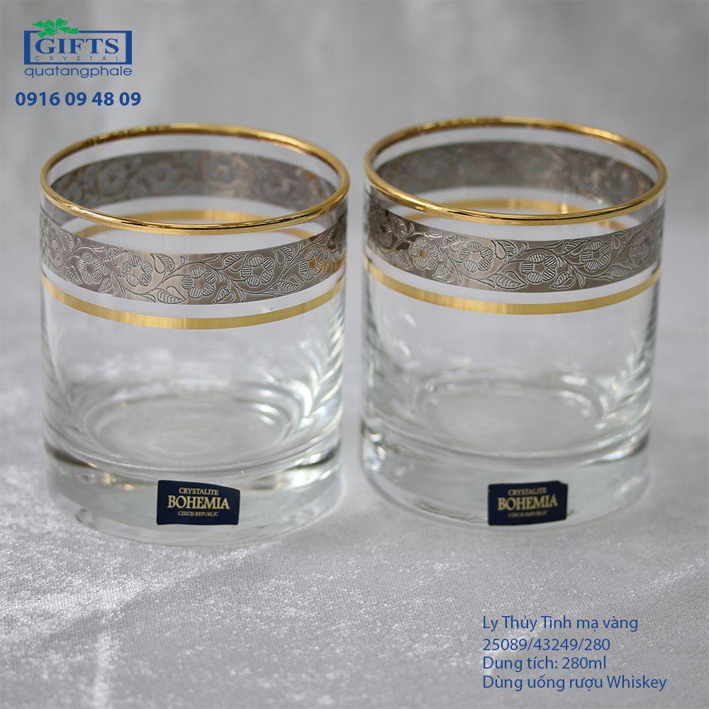 Ly Thủy Tinh Mạ Vàng 25089-43249-280