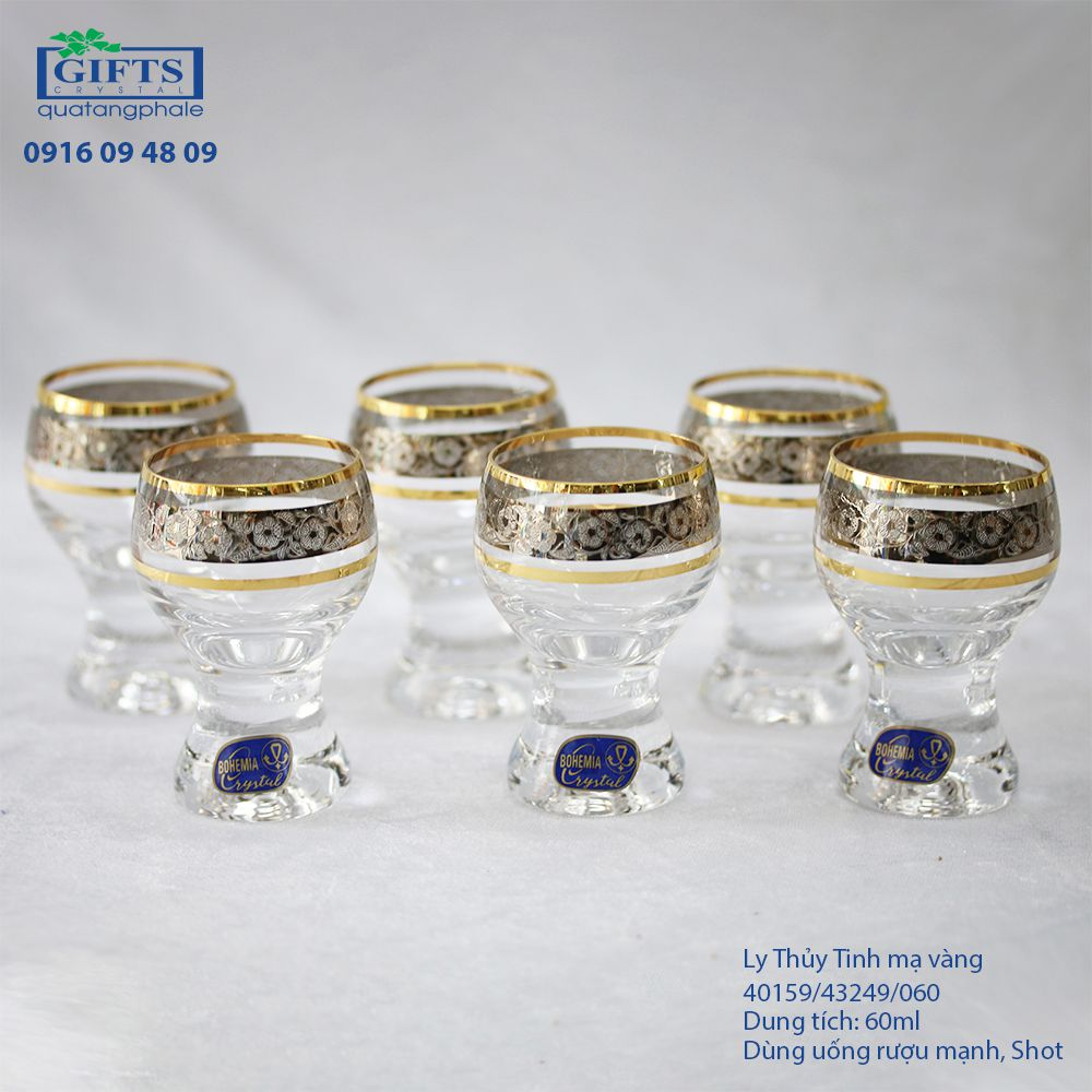 Ly Thủy Tinh Mạ Vàng 40159-43249-060