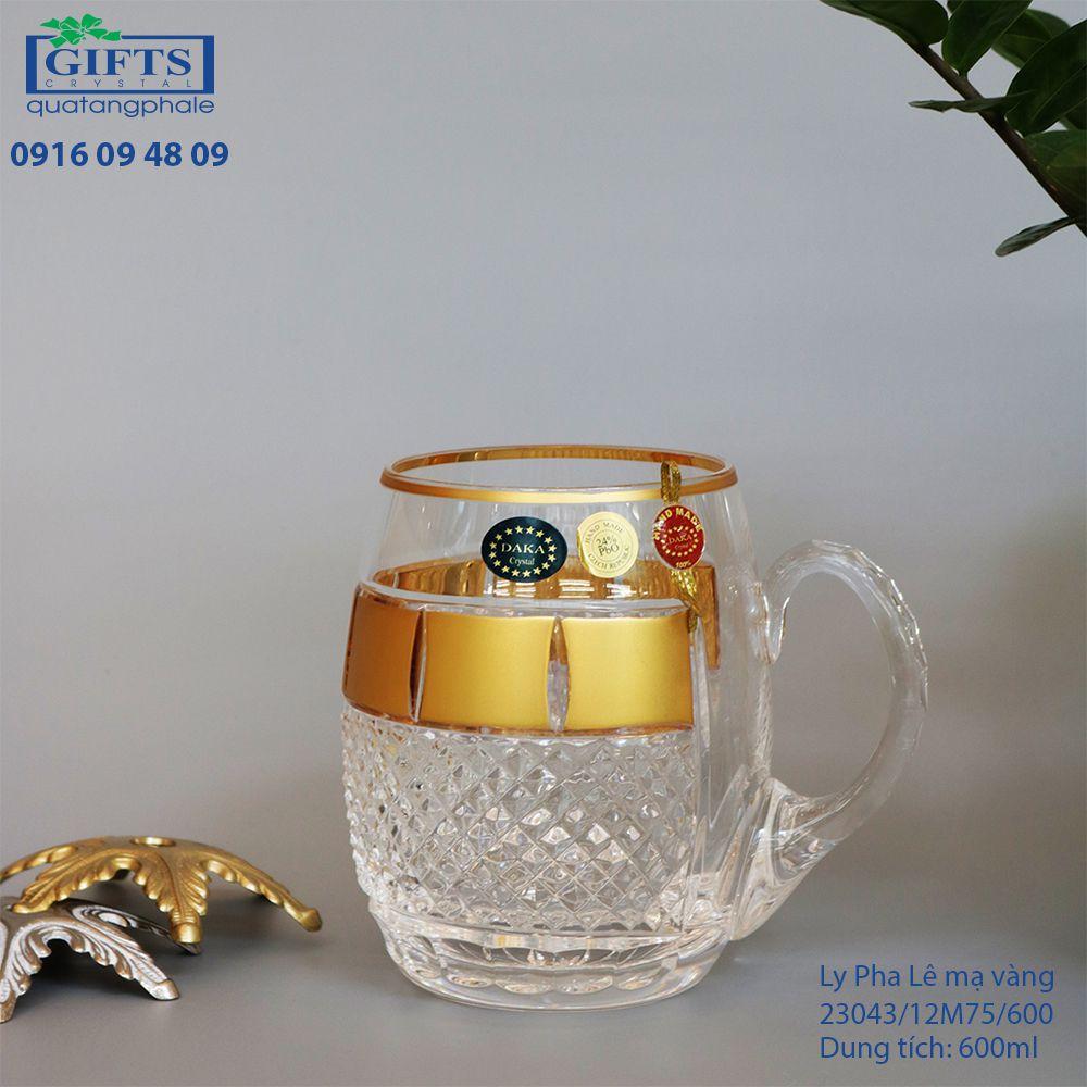 Ly pha lê mạ vàng 23043-12M75-600